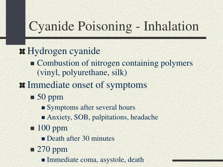 Cyanide Poisoning - Inhalation