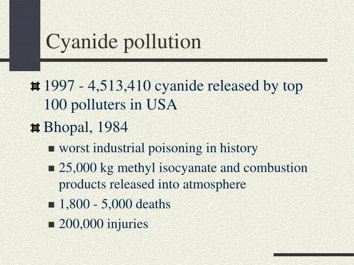 Cyanide pollution