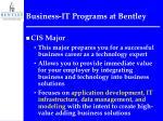 business it programs at bentley