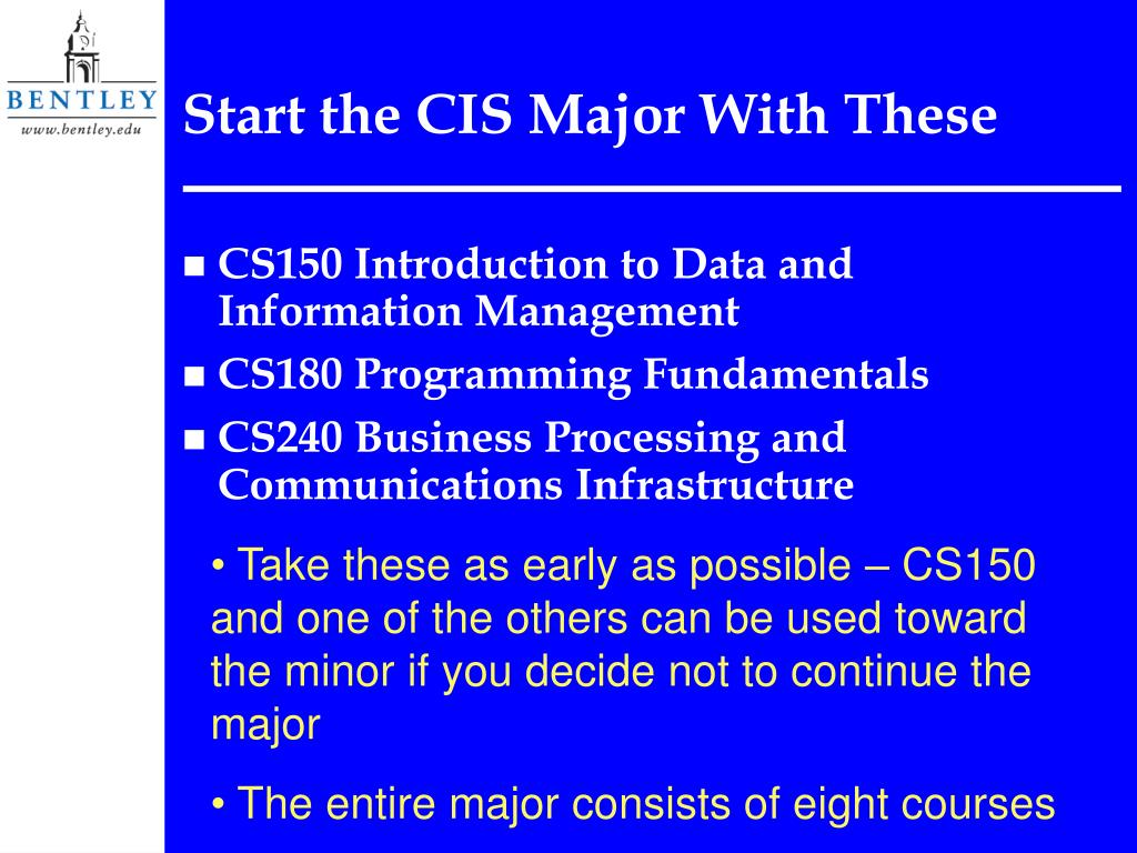 Start the CIS Major With These