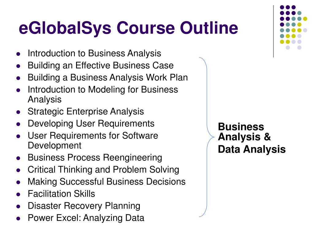 eGlobalSys Course Outline