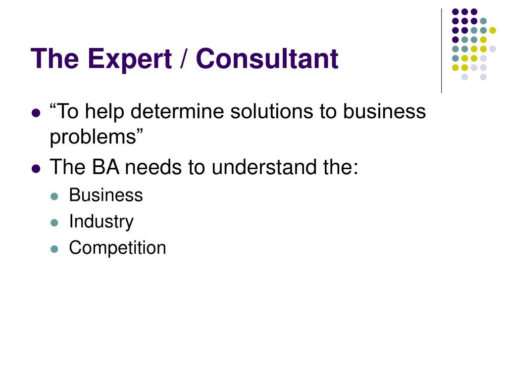 The Expert / Consultant
