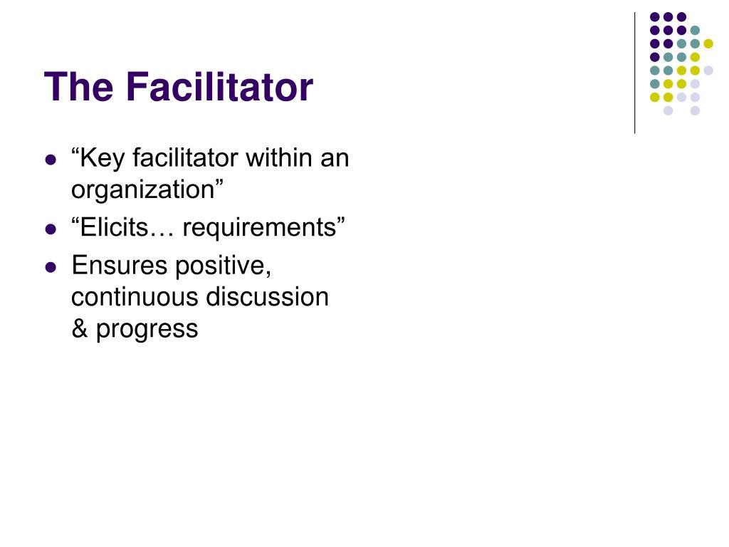 """""""Key facilitator within an organization"""""""