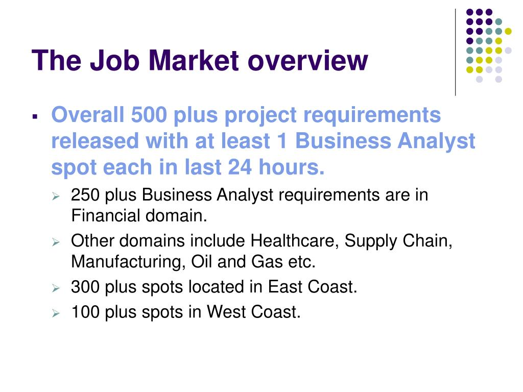 The Job Market overview