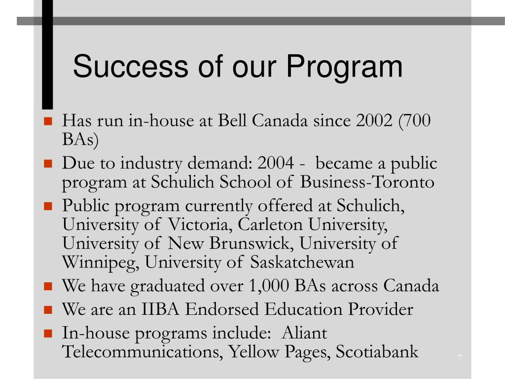 Success of our Program