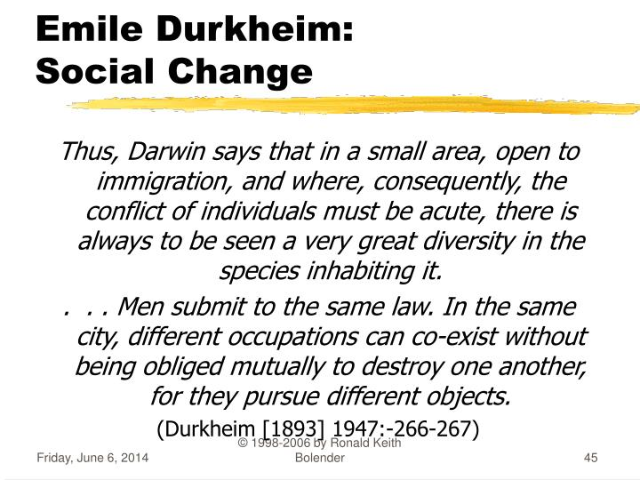 "durkheim and the dynamic density Durkheim calls this ""dynamic and moral density"" è the progress of the division of labor is in direct ratio to the moral or dynamic density of society density of societies develops historically in three ways."