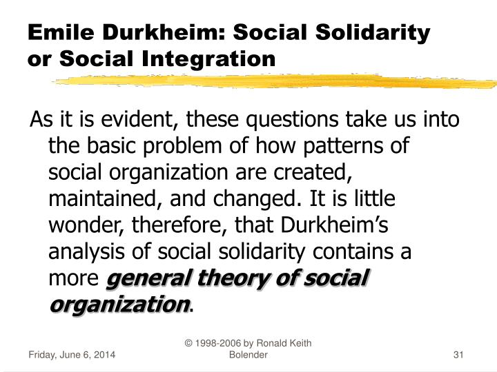social theory durkheim The transcendence of the social in durkheim is entirely isomorphic to weismann's transcendence of the germplasm: social theory and philosophy on one side.