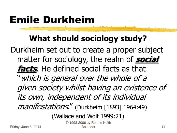 what does durkheim mean by social facts