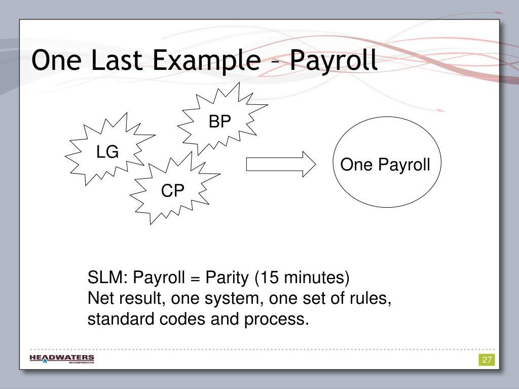 One Last Example – Payroll