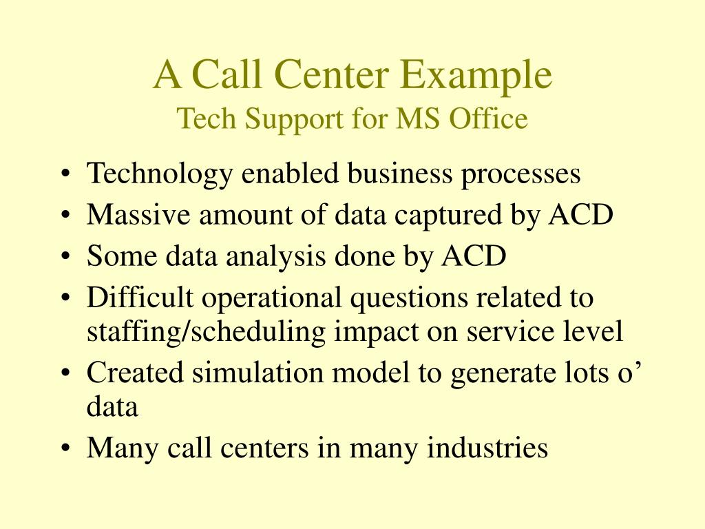 A Call Center Example