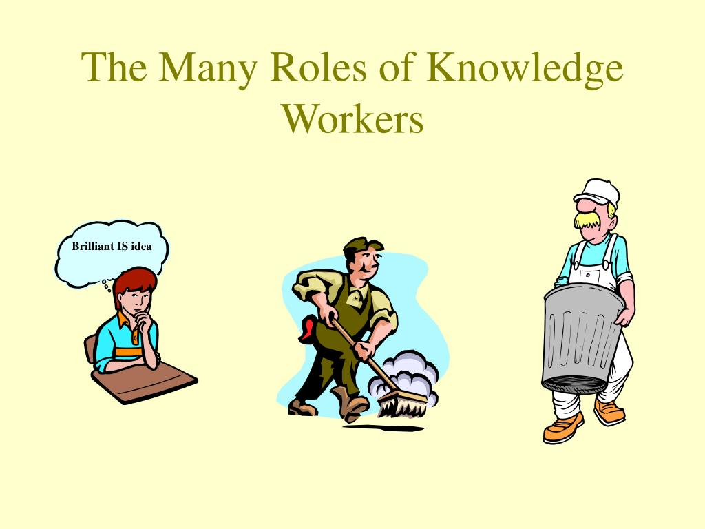 The Many Roles of Knowledge Workers
