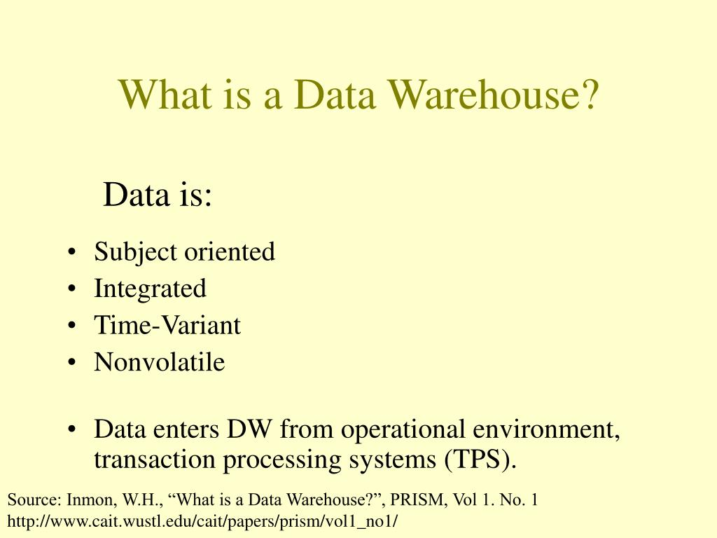 What is a Data Warehouse?
