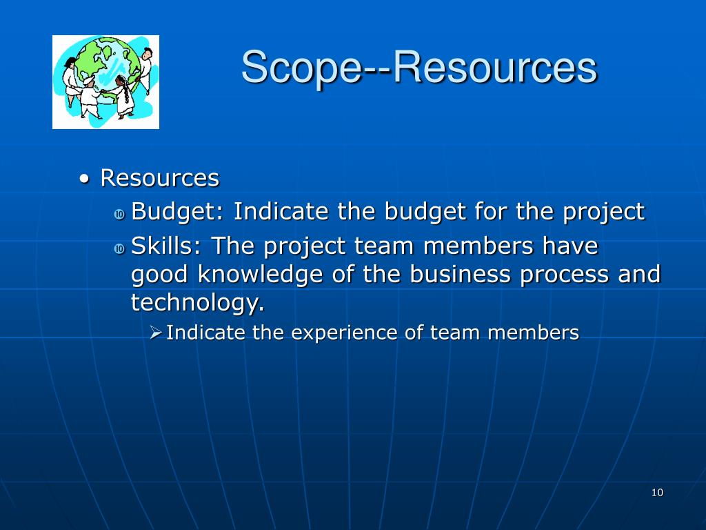 Scope--Resources