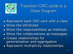 transition crc cards to a class diagram