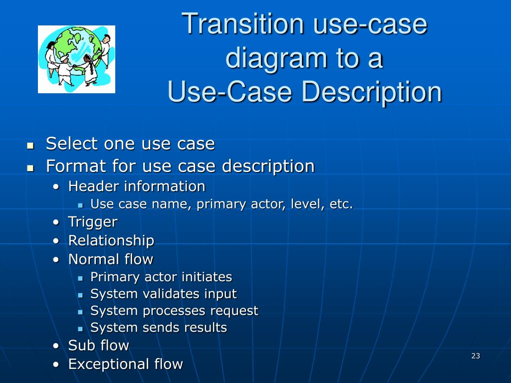 Transition use-case diagram to a