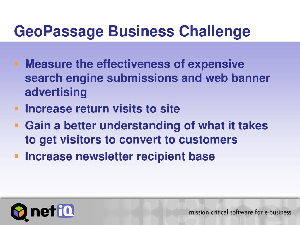 GeoPassage Business Challenge
