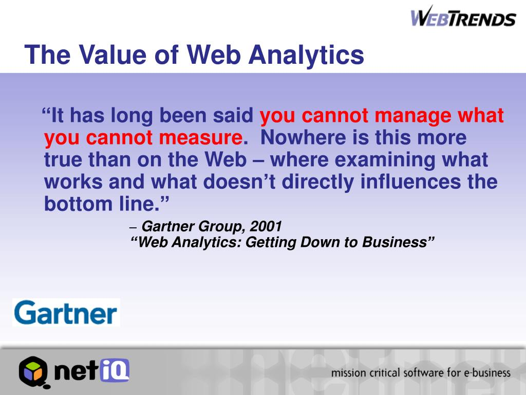 The Value of Web Analytics