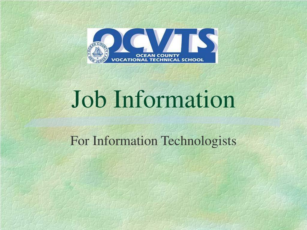 Job Information