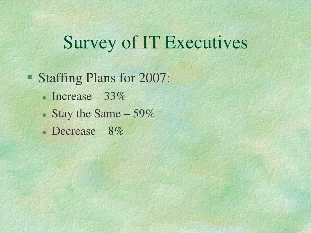 Survey of IT Executives