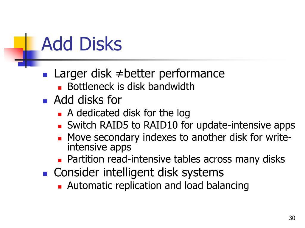 Add Disks