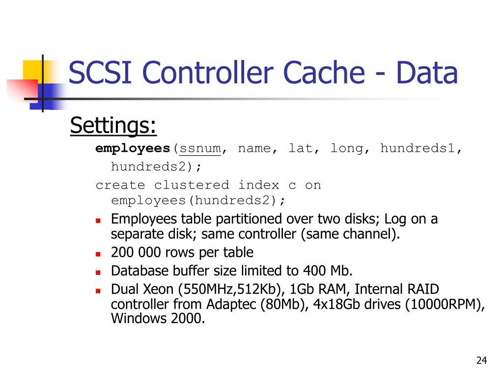 SCSI Controller Cache - Data