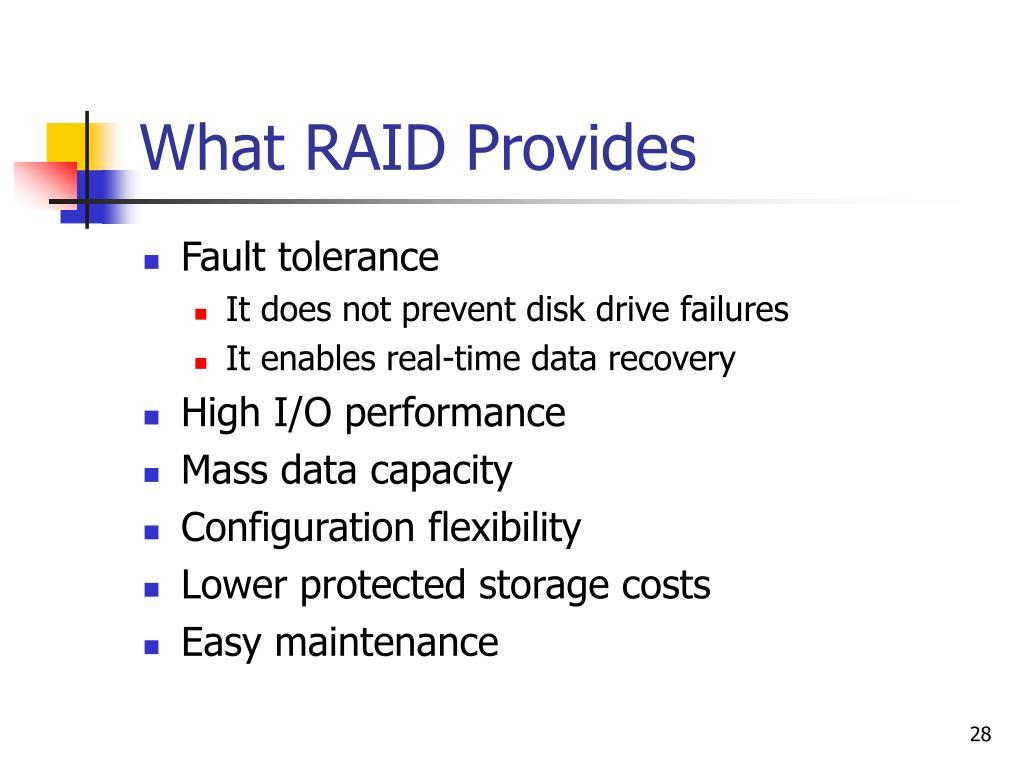 What RAID Provides