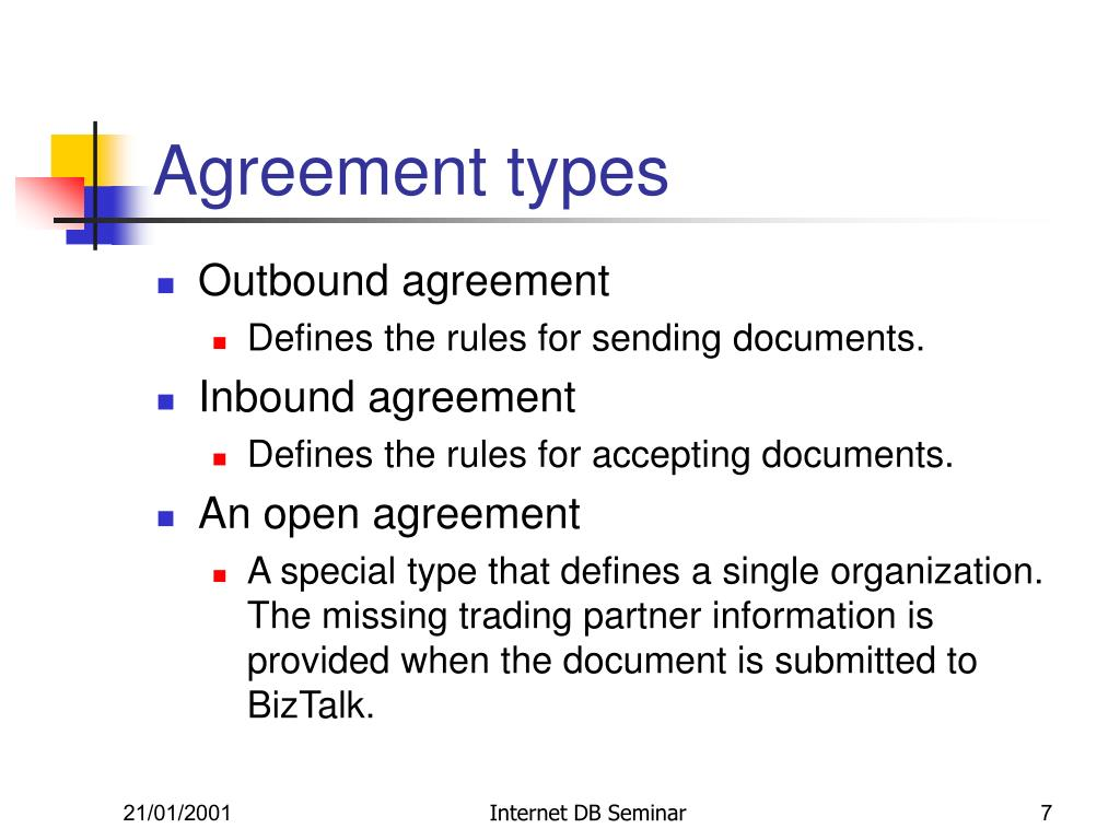 Agreement types