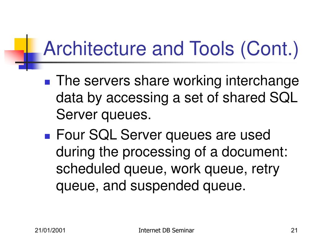 Architecture and Tools (Cont.)