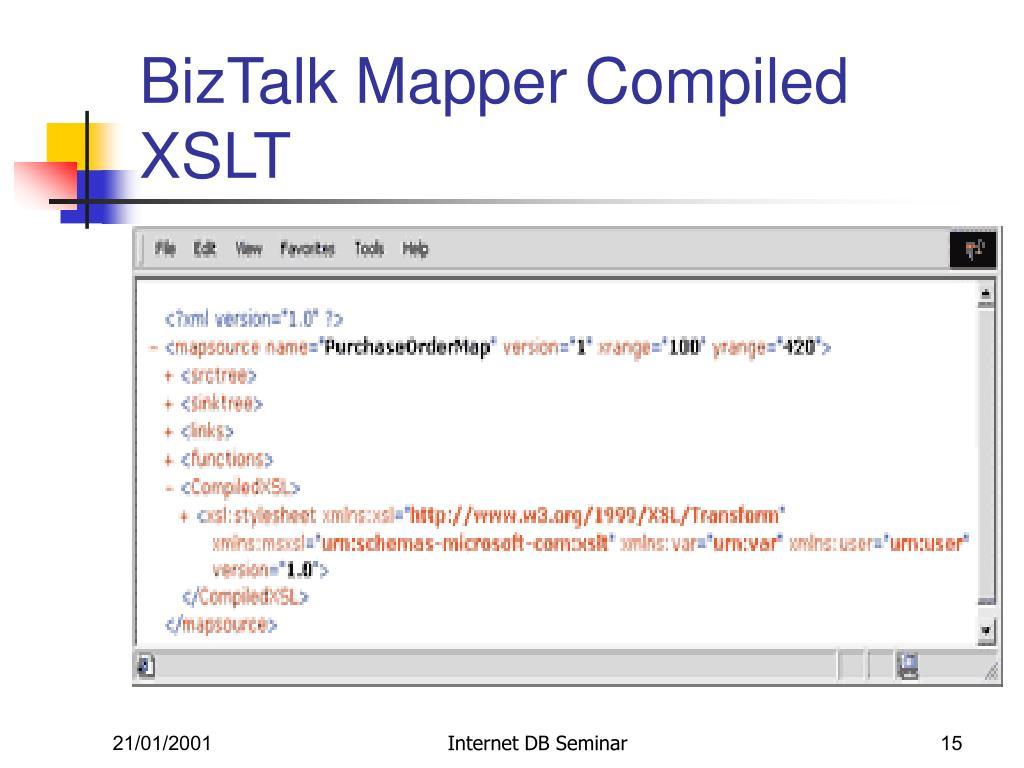 BizTalk Mapper Compiled XSLT