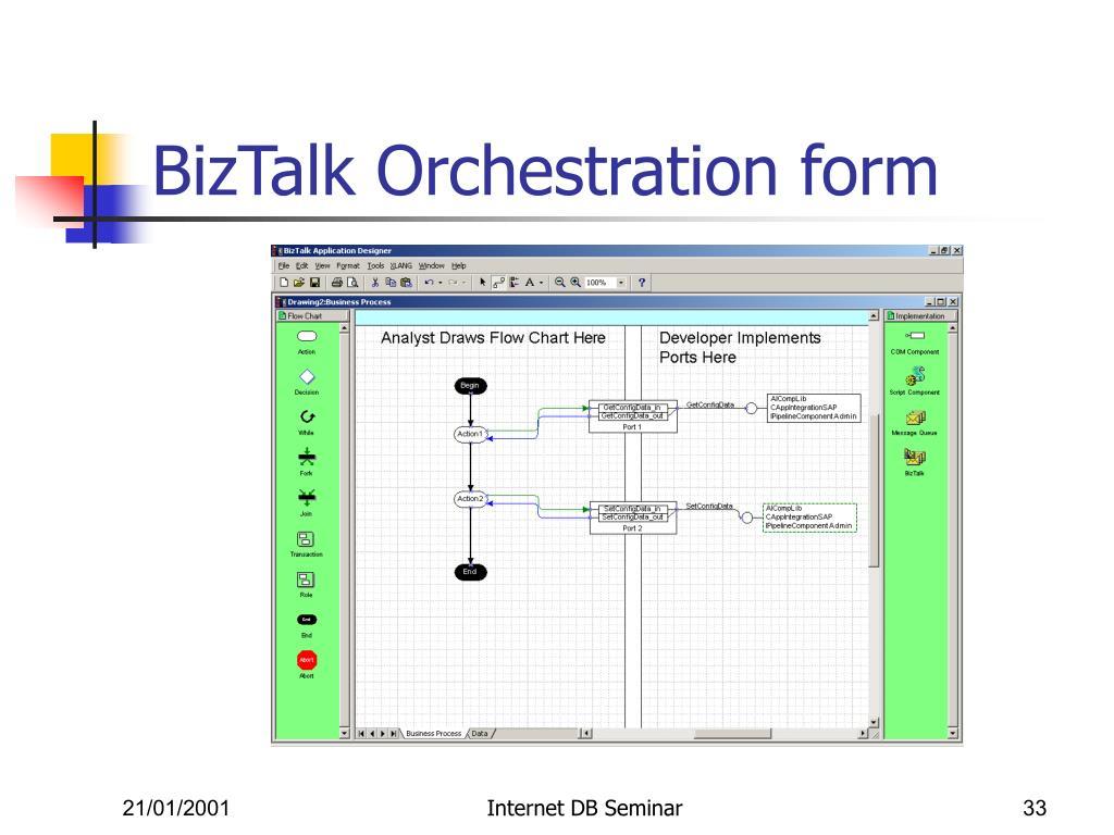 BizTalk Orchestration form