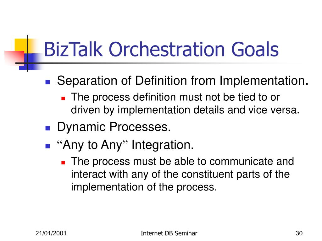 BizTalk Orchestration Goals