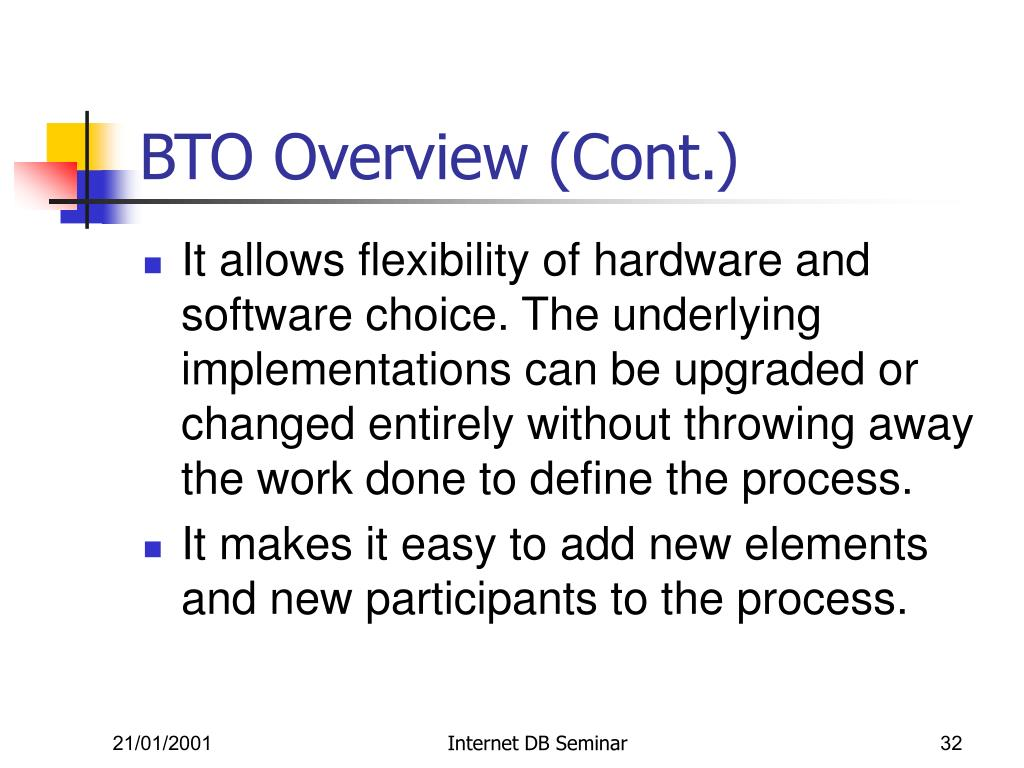 BTO Overview (Cont.)