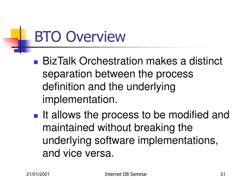 BTO Overview