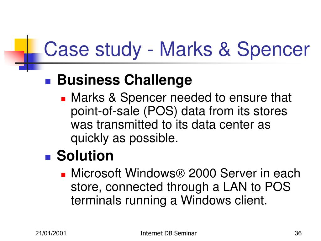 Case study - Marks & Spencer