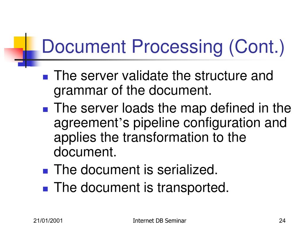 Document Processing (Cont.)