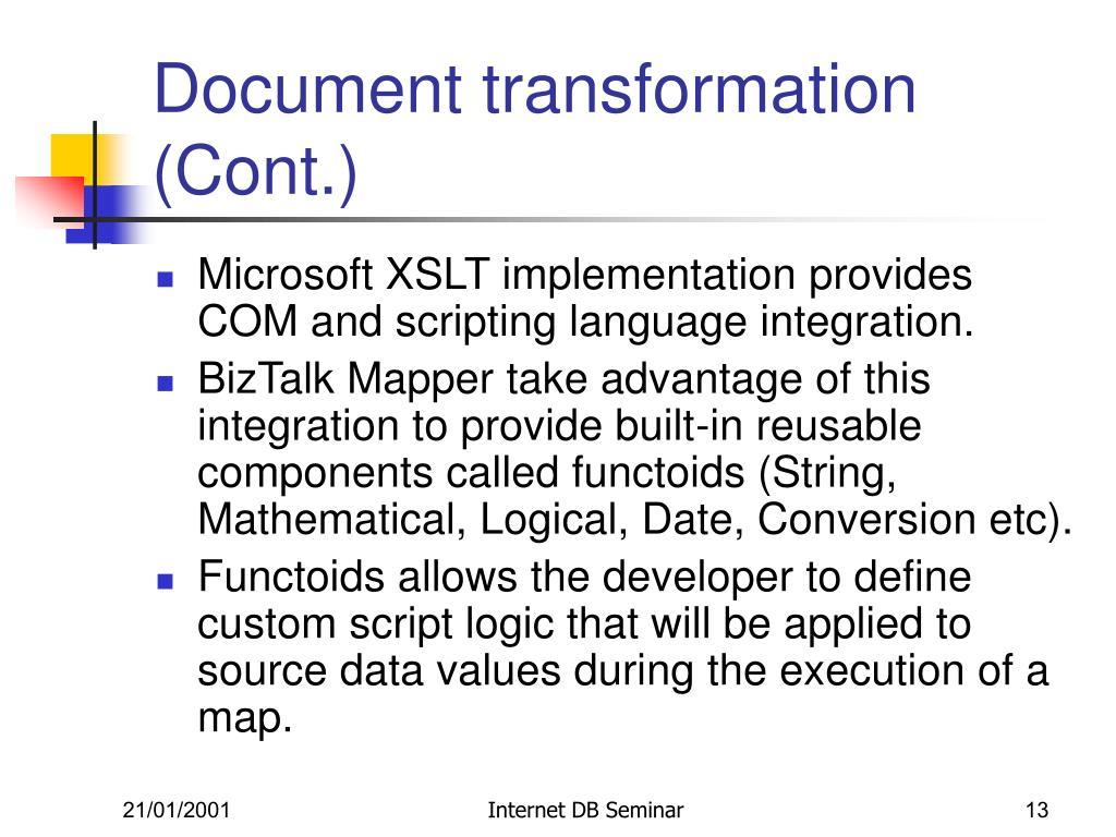 Document transformation (Cont.)