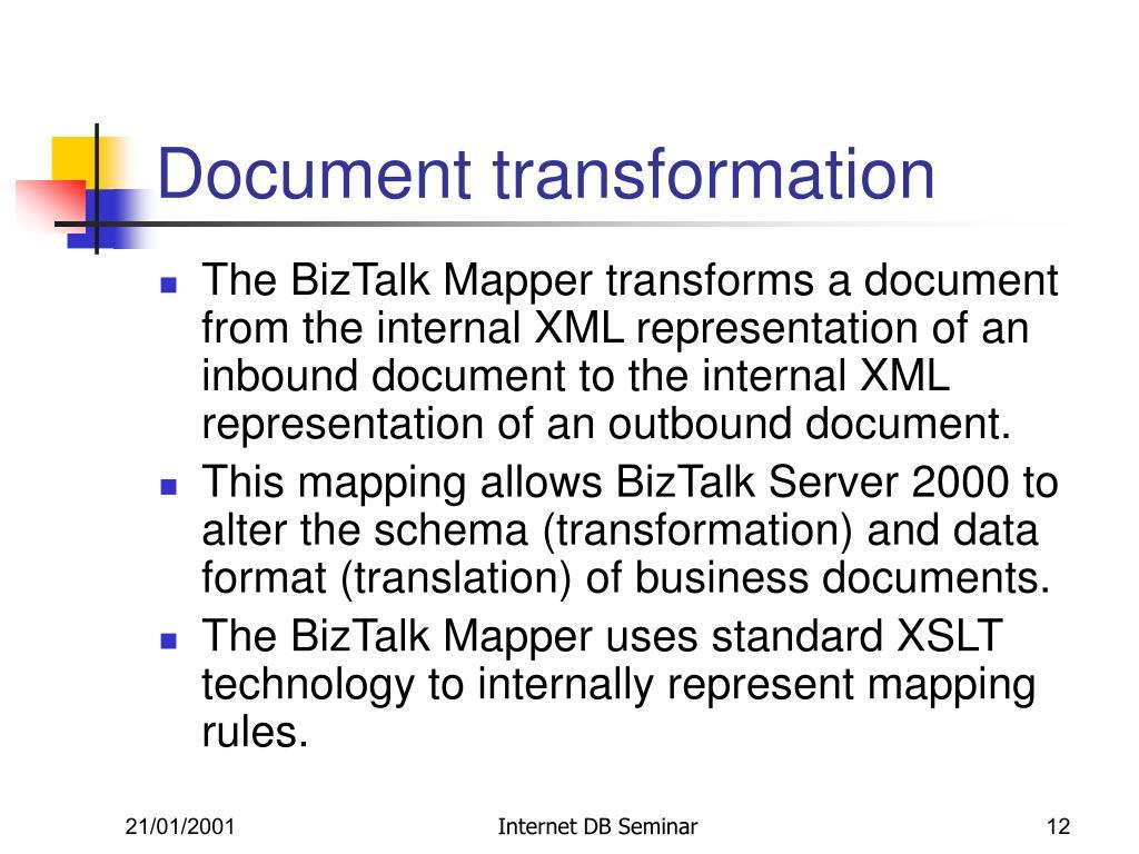Document transformation