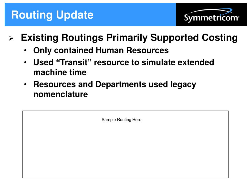 Routing Update