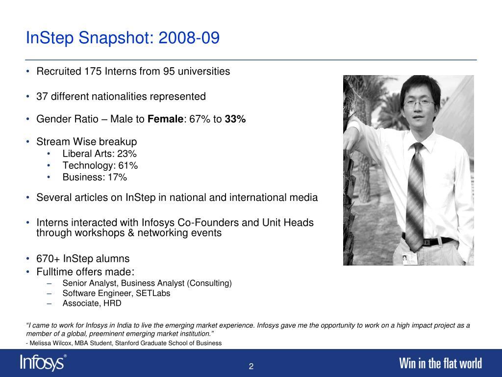 InStep Snapshot: 2008-09