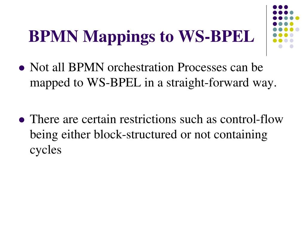 BPMN Mappings to WS-BPEL
