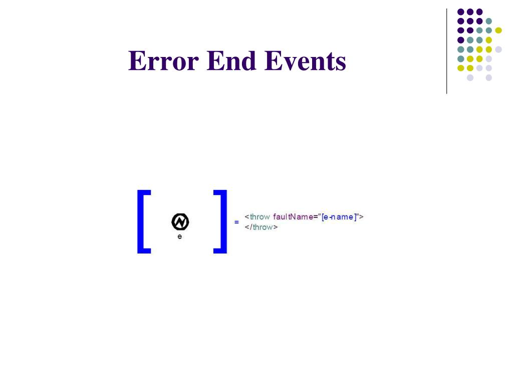 Error End Events