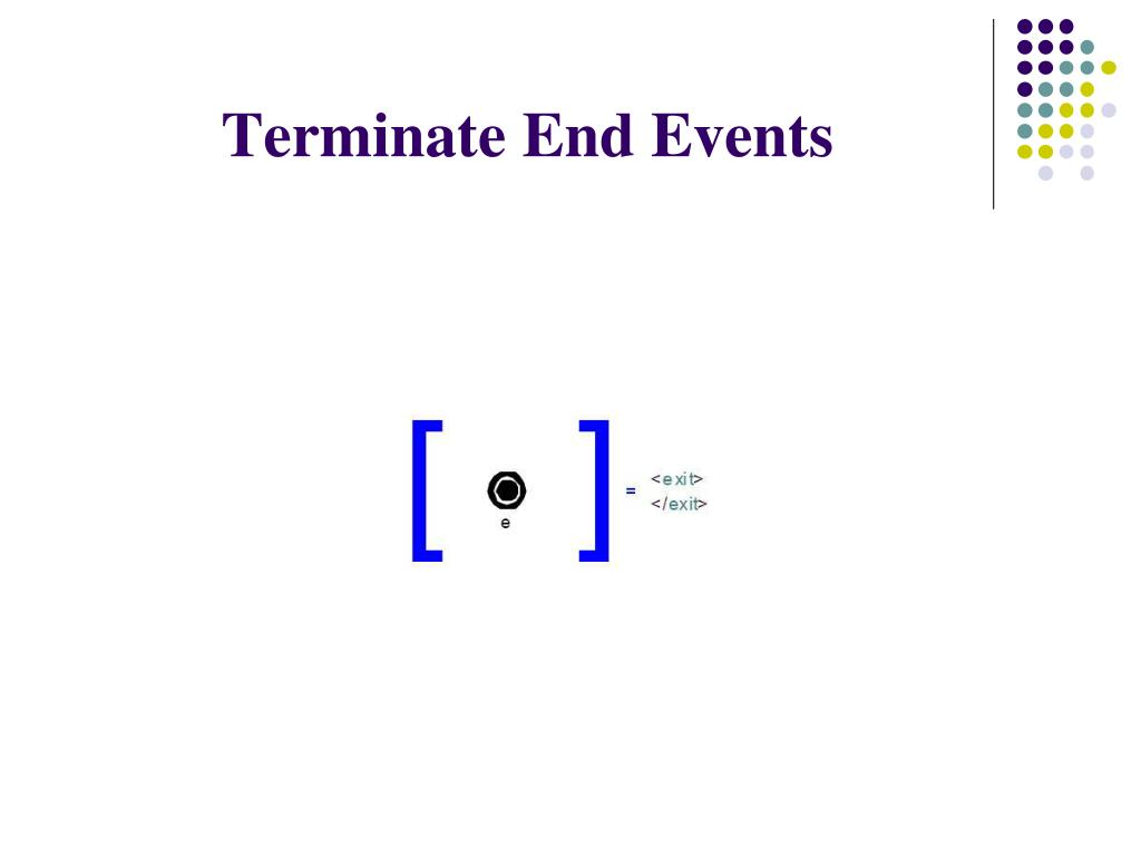 Terminate End Events