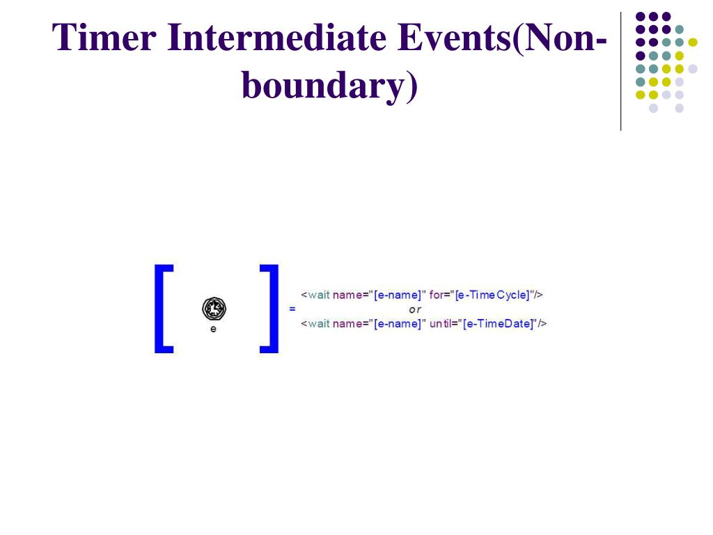 Timer Intermediate Events(Non-boundary)