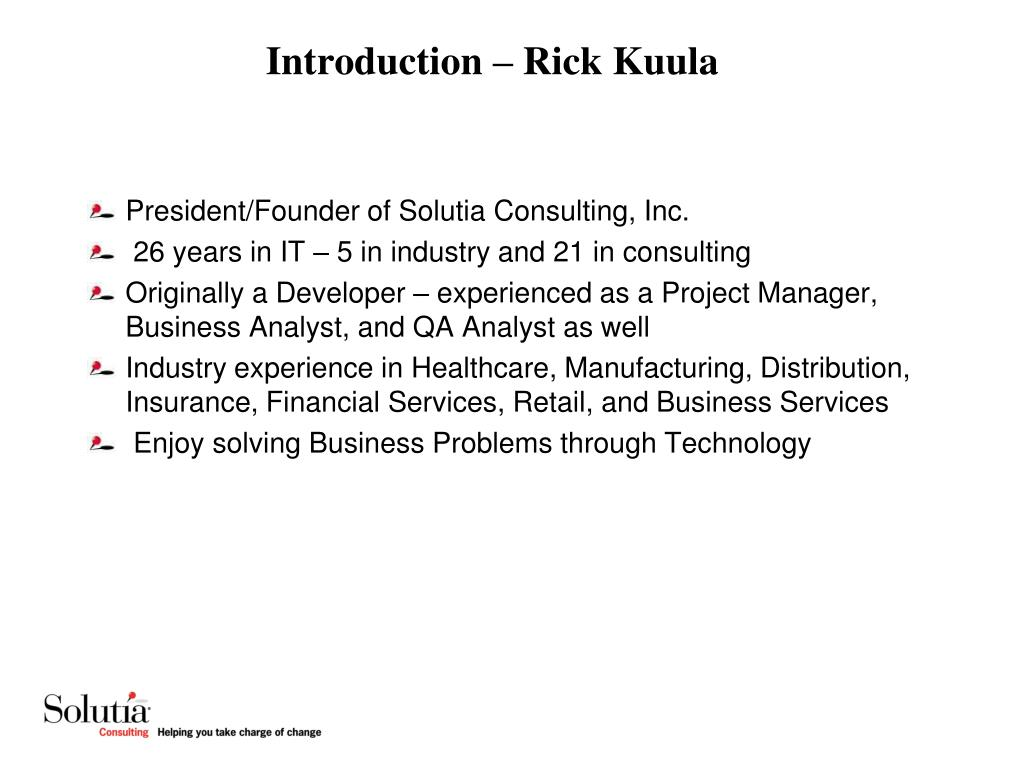 Introduction – Rick Kuula