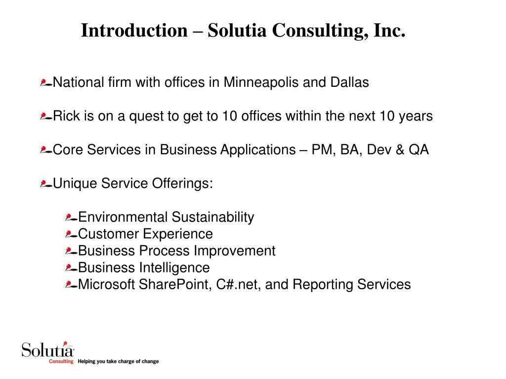 Introduction – Solutia Consulting, Inc.