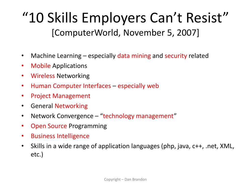 """10 Skills Employers Can't Resist"""
