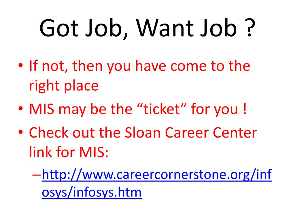 Got Job, Want Job ?