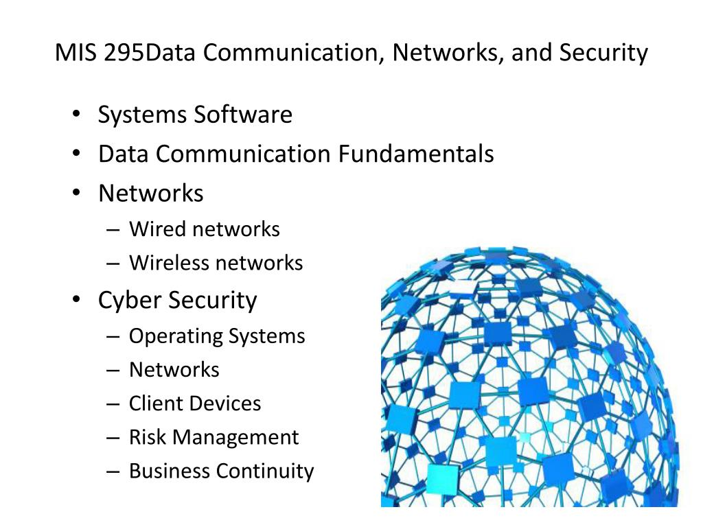 MIS 295Data Communication, Networks, and Security