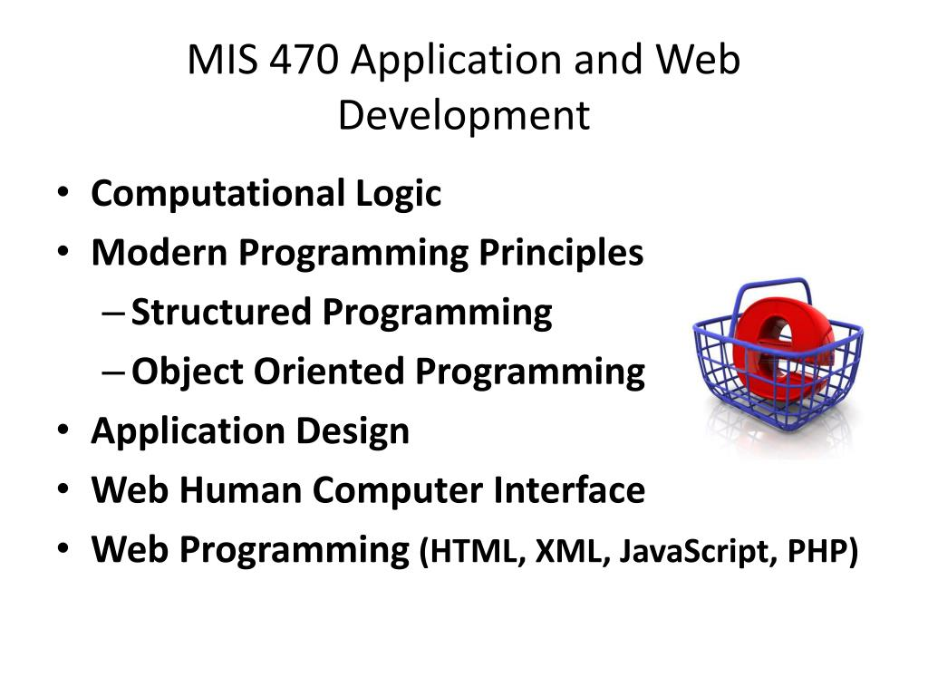 MIS 470 Application and Web Development