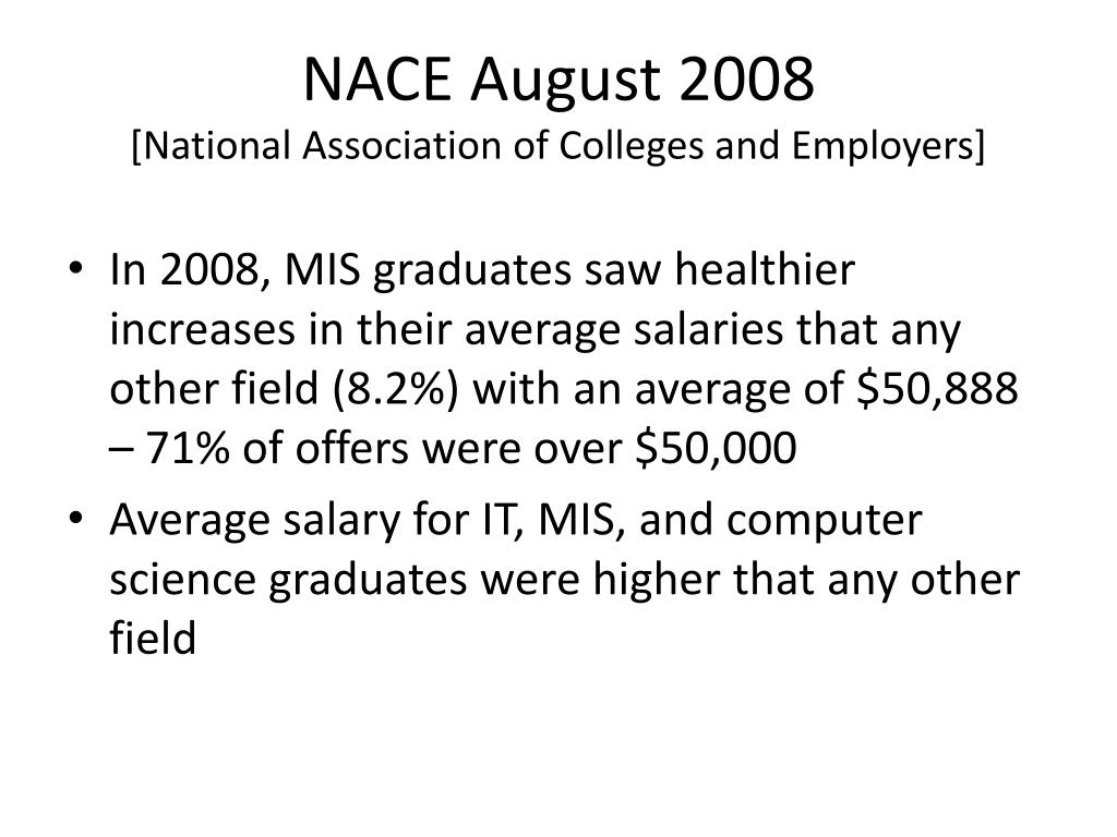 NACE August 2008